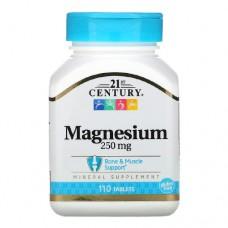 21st Century Magnesium 250 миллиграмм 110 таблеток