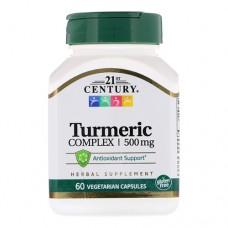 21st Century Turmeric Complex 500 миллиграмм 60 капсул