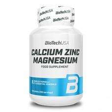 BioTechUsa Calcium Zinc Magnesium 100 таблеток