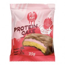 Fit Kit Protein Cake Strawberry Cream 70 грамм
