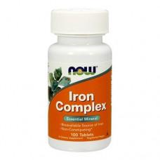 NOW Iron Complex 100 таблеток
