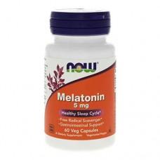NOW Melatonin 5 миллиграмм 60 капсул