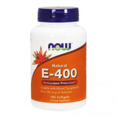 NOW Natural E-400 100 капсул