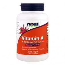 NOW Vitamin A 250 капсул