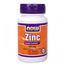 NOW Zinc Gluconate 50 миллиграмм 100 таблеток